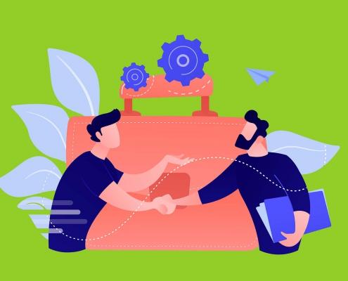 تعامل فروشنده و مشتری